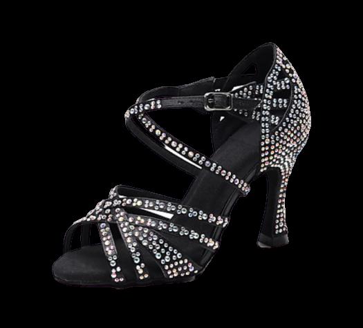 Chaussure danses noir strass