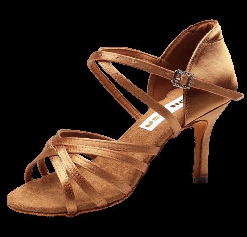 Chaussure danses marron sans strass